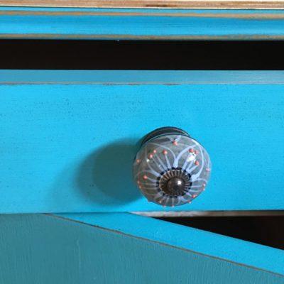 PRODÁNO Noční stolky modré Art Deco